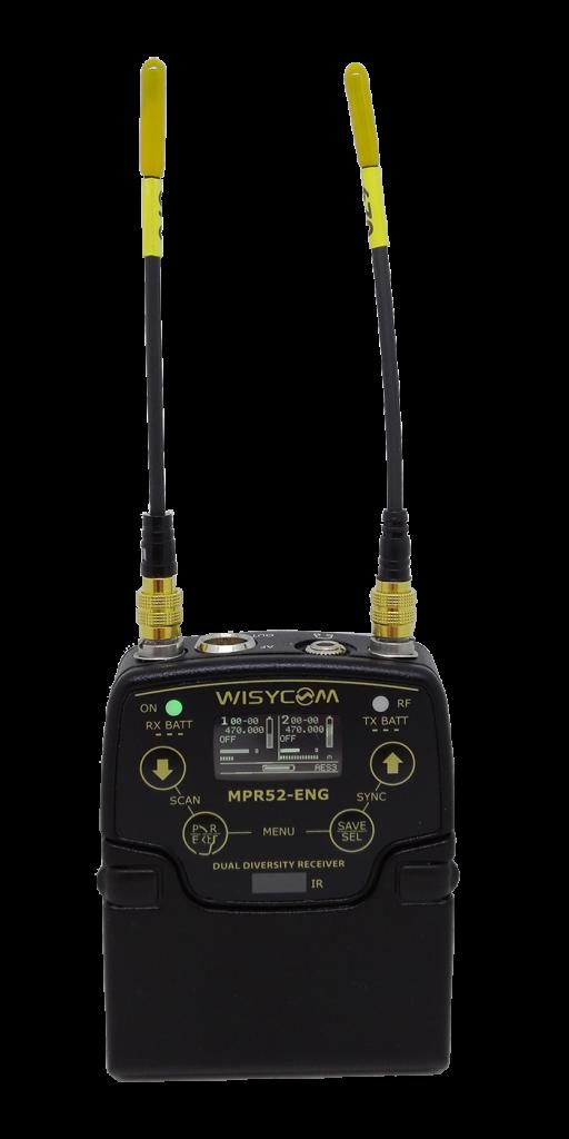 MPR 52 ENG - Récepteur double portable UHF