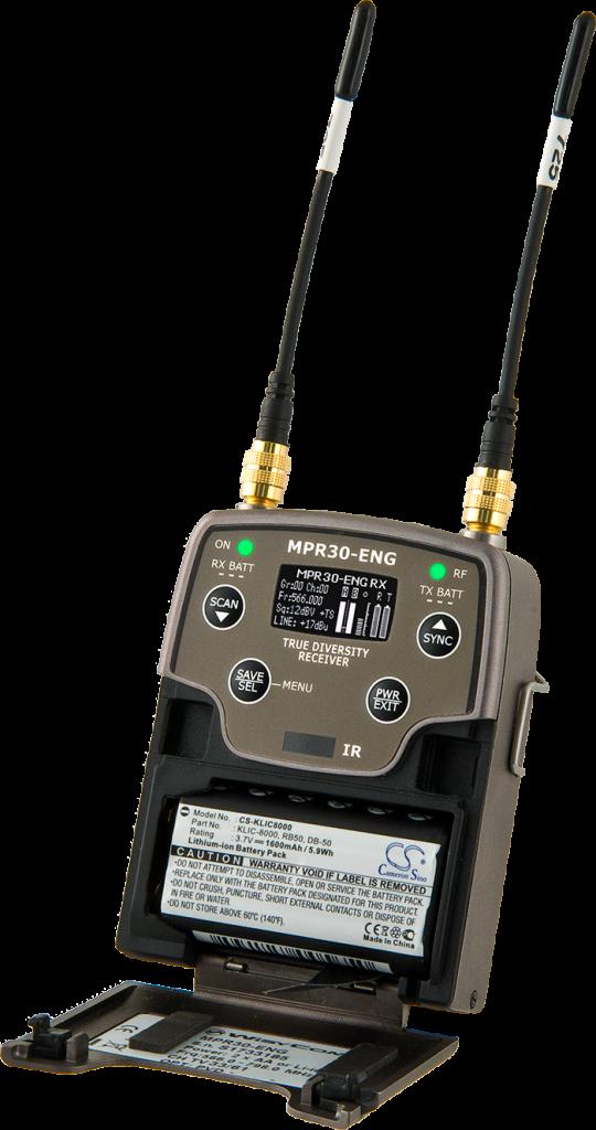 MPR 30 ENG - Récepteur double portable UHF diversity