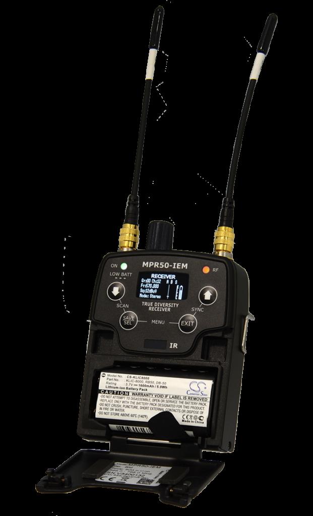 MPR50-IEM - Récepteur de poche UHF pour retour de scène IEM