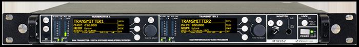 MTK952 - Emetteur double UHF pour retour de scène IEM