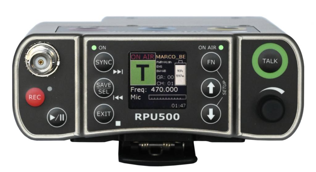 RPU500 - Unité portable journaliste haute puissance en full duplex
