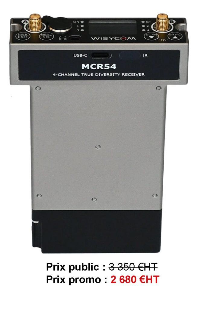 MCR54 - Le MCR54 est un récepteur quadruple sans fil True Diversity
