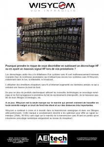 Wisycom - Article sur le décrochage HF