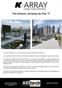 The Greens, terrasse du Pier 17