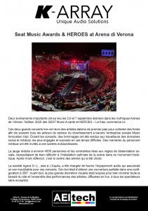 Seat Music Awards & HEROES at Arena di Verona